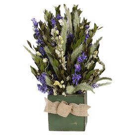 Preserved Larkspur & Myrtle Arrangement