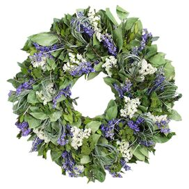 Preserved Mixed Floral Wreath I