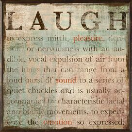 Laugh Framed Giclee Print
