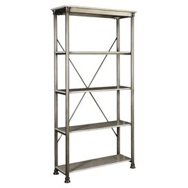 Orleans 5-Shelf Bookcase in Marble & Chrome