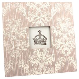 Medium Bridgette Picture Frame in Brown & White