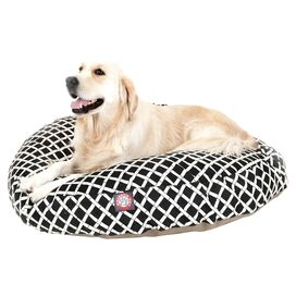 Maxwell Indoor/Outdoor Round Pet Bed in Black