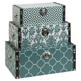 3-Piece Hadley Storage Box Set in Blue