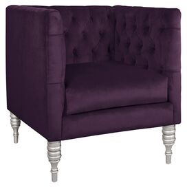 Adella Arm Chair in Aubergine