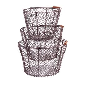 3-Piece Iva Basket Set