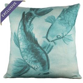 Swimming Koi Pillow