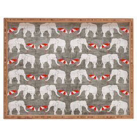 Elephant & Umbrella Bamboo Tray