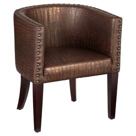 Chilton Accent Chair in Copper Brown