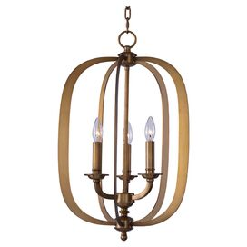 Harper 3-Light Pendant in Natural Aged Brass