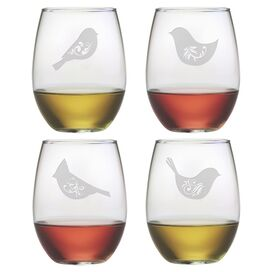 Piper Stemless Wine Glass