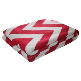 ZigZag Throw in Cherry
