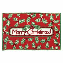 "Christmas Holly 2'3"" x 3'4"" Rug"
