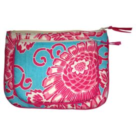 2-Piece Amelia Cosmetic Bag Set