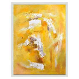 Jaune Tourbillon Framed Canvas Print