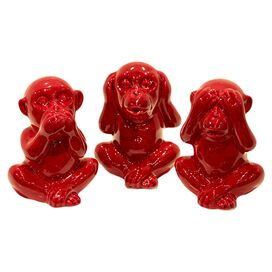 3-Piece Wise Monkey Decor Set