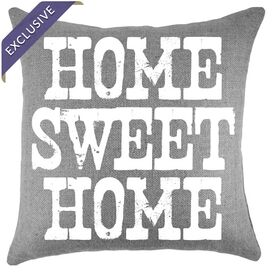 Home Pillow in Grey