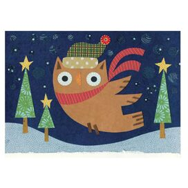 Starry Owl Greeting Card
