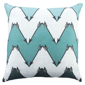 Lawrence Pillow in Turquoise