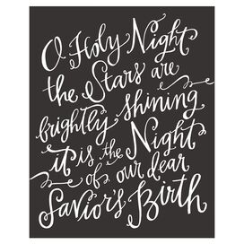 O Holy Night Canvas Print in Dark Charcoal