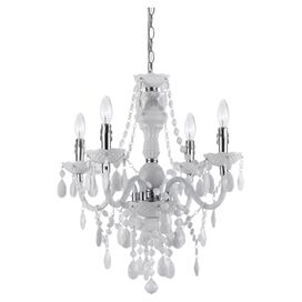 Vogue 4-Light Mini Chandelier in White