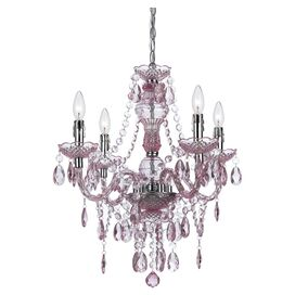 Vogue 4-Light Mini Chandelier in Pink
