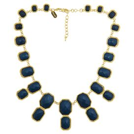 Serena Necklace in Navy