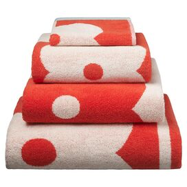 Jardine Towel in Tomato
