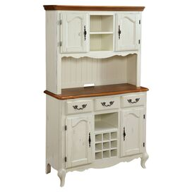 2-Piece Seine Buffet & Hutch Set in White