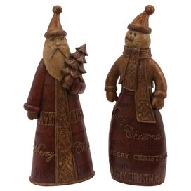 2-Piece Christmastime Statuette Set