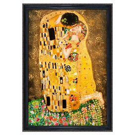 The Kiss by Klimt Framed Canvas Reproduction