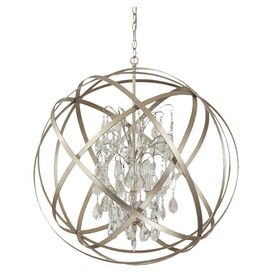 Axis 6-Light Crystal Pendant in Winter Gold