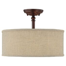 McMahon Semi-Flush Mount in Burnished Bronze