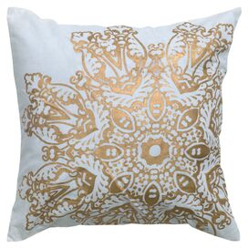 Rosette Pillow in Gold