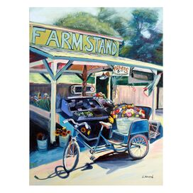 Farmstand Bike Canvas Art