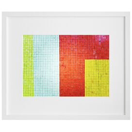 Colorblocked Framed Print