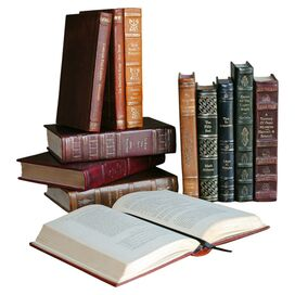 12 Piece Assorted Leather Book Set