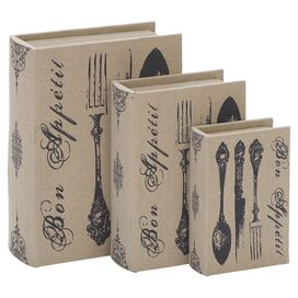 3 Piece Bon Appetit Book Box Set