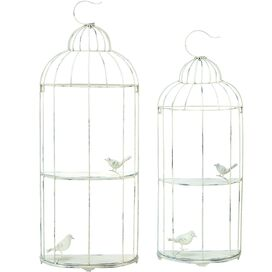 2 Piece Birdcage Wall Shelf Set