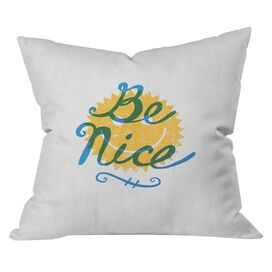 Nick Nelson Be Nice Throw Pillow