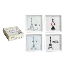 4 Piece Paris Appetizer Plate Set