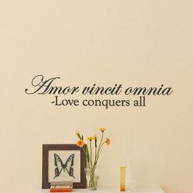 Love Conquers Wall Decal