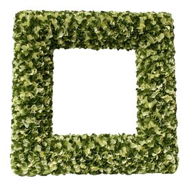Large Faux Hydrangea Wreath in Green