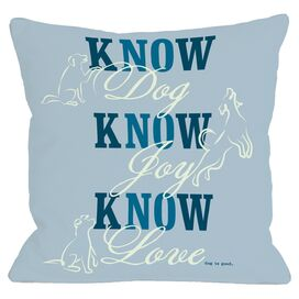 Know Dog Pillow