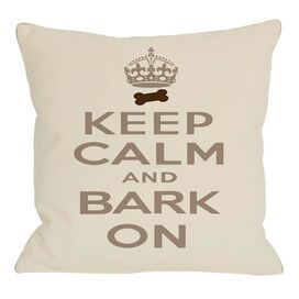 Keep Calm & Bark On Pillow