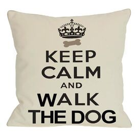Keep Calm & Walk The Dog Pillow