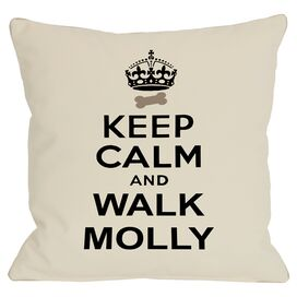Personalized Keep Calm & Walk Pillow
