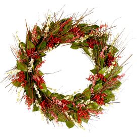 Preserved Pepperberry Garden Wreath