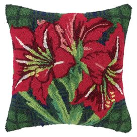 Red Amaryllis Pillow