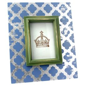 Small Nimes Picture Frame in Deep Blue