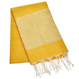 Erzin Towel in Mustard and Silver